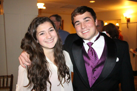Then junior Alexis Lopez poses for a picture with Dominic Mastrangelo at last years fashion show.