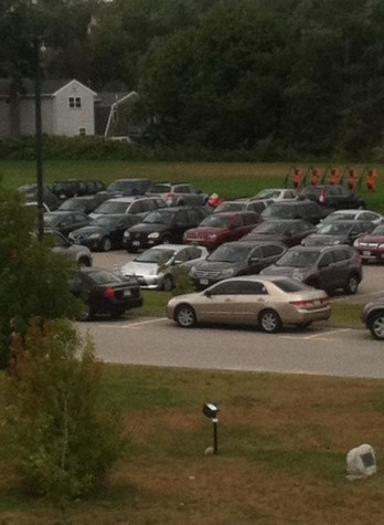 A photo of the Ipswich High parking lot