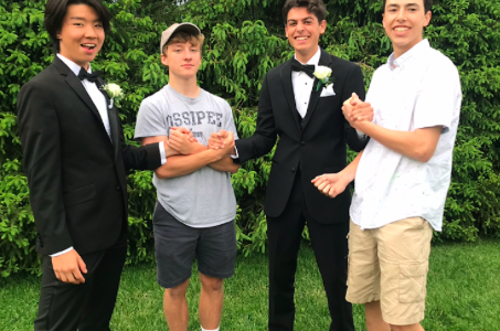 Damian Guldiman with friends at the IHS Senior Prom