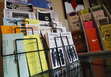 Pamphlets dealing with a range of topics including drug and alcohol addiction recovery at Club Soda in Oklahoma City, Okla., Friday, April 7, 2007. Photo by James Plumlee, The Oklahoman. ORG XMIT: kod